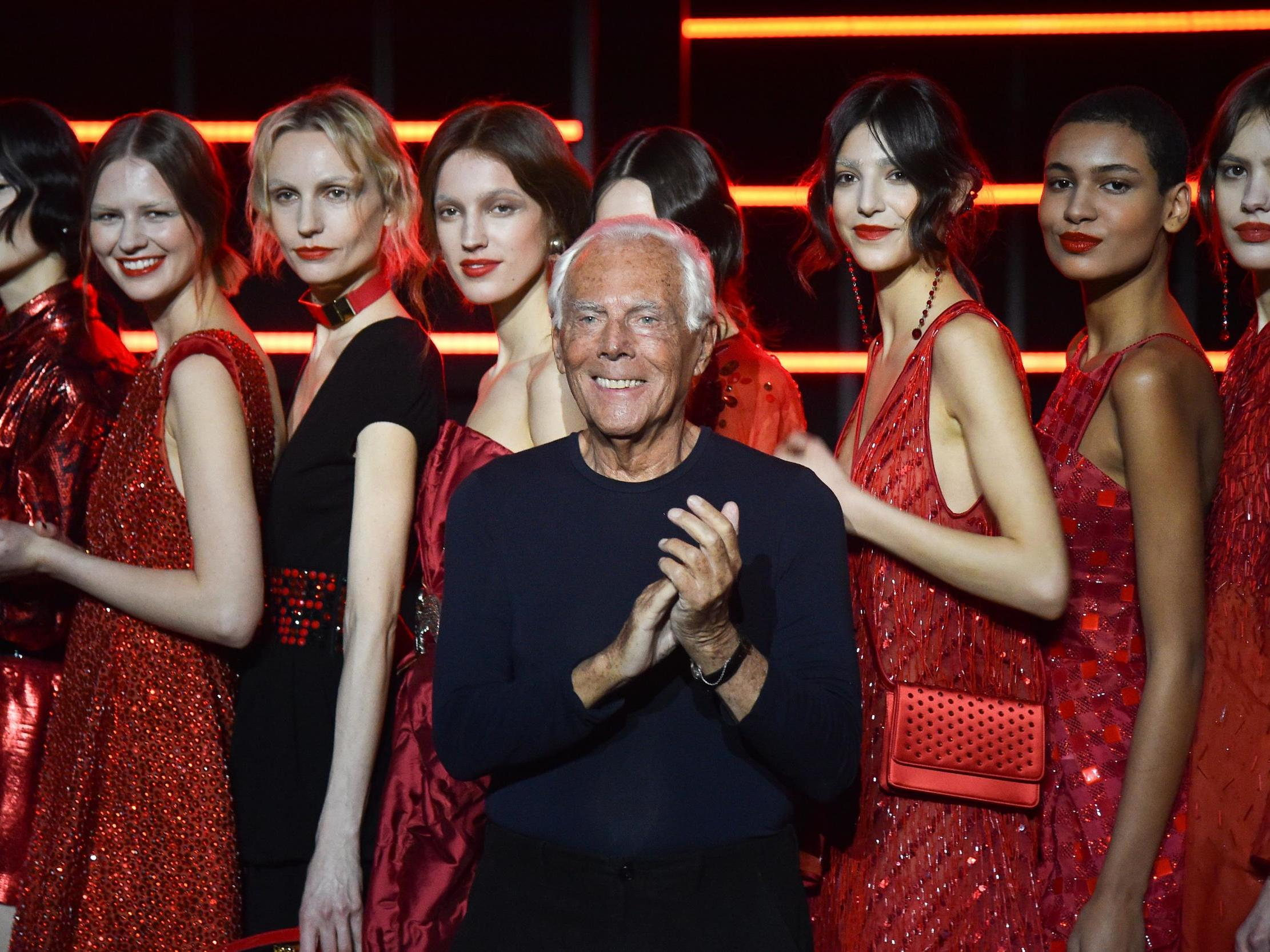 Giorgio Armani condemned for likening treatment of women by fashion designers to rape