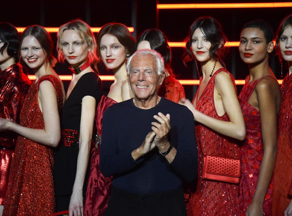 Giorgio Armani in Milan on 21 February 2019