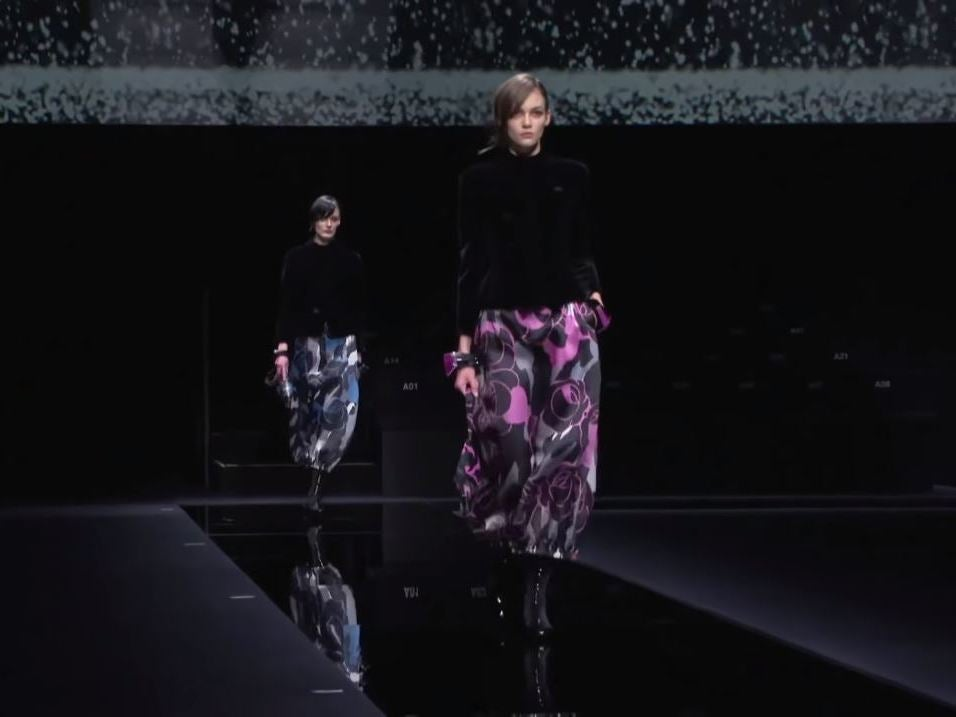 Giorgio Armani holds Milan fashion show in empty room amid coronavirus fears