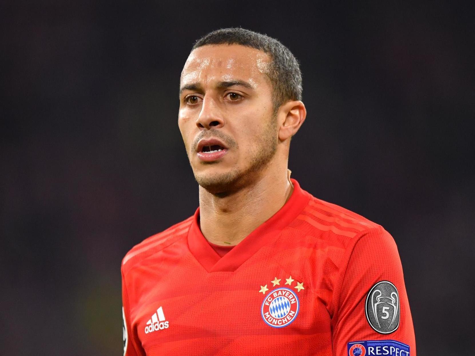 Bayern Munich team news: Thiago Alcantara to miss clash with Borussia Dortmund