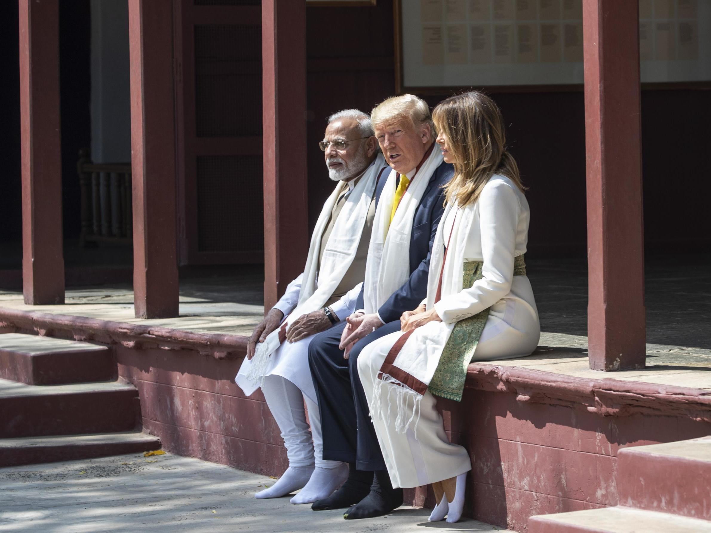 Trump and his entourage fail to eat anything from special vegetarian feast on India trip