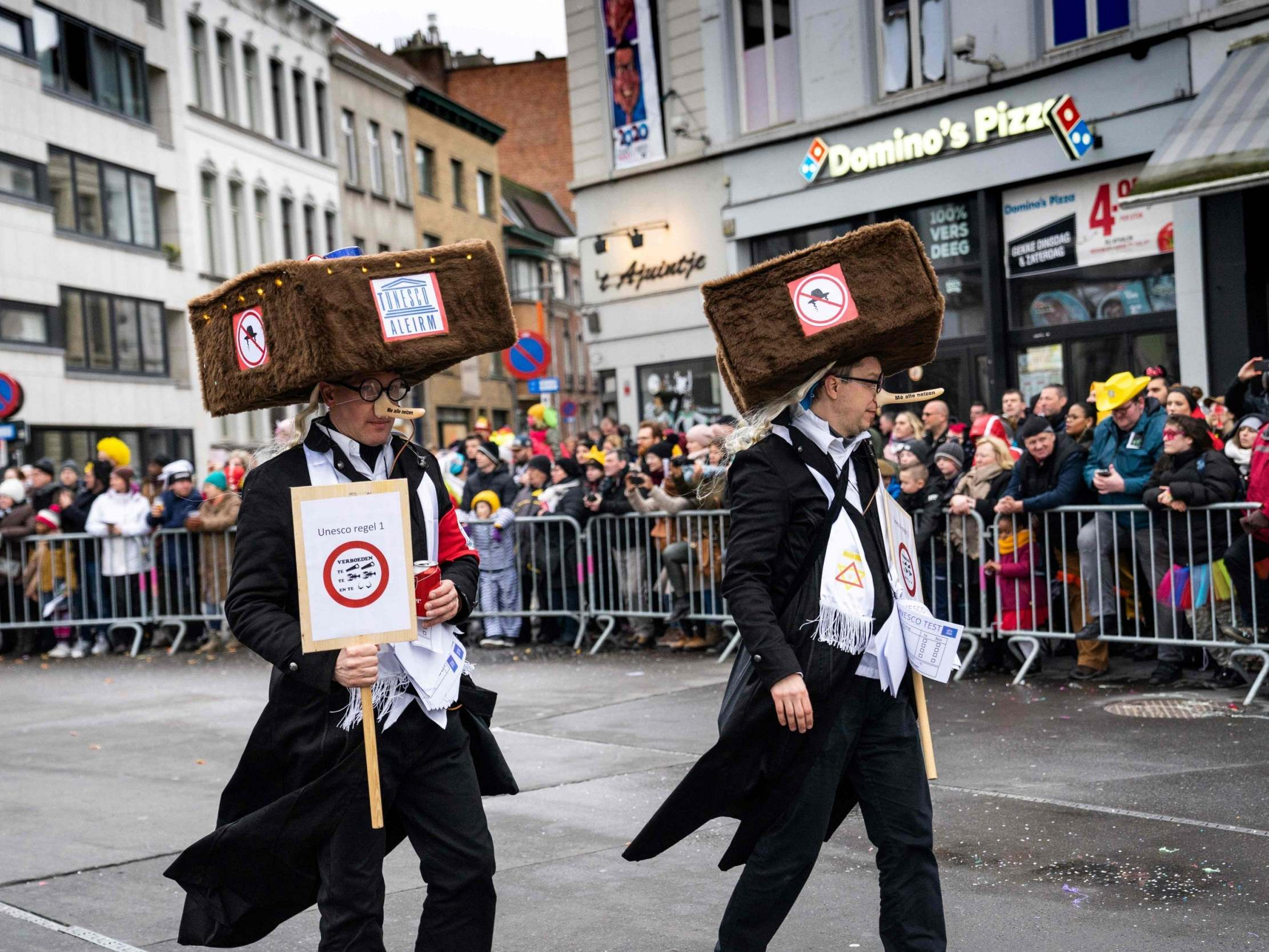 Antisemitic parade in Belgian city depicting Jews with hooked noses 'just fun,' says mayor's spokesman