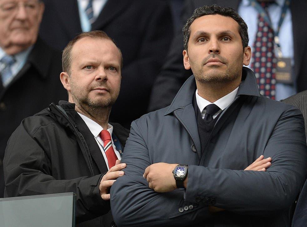 Ed Woodward and Manchester City chairman Khaldoon Al Mubarak