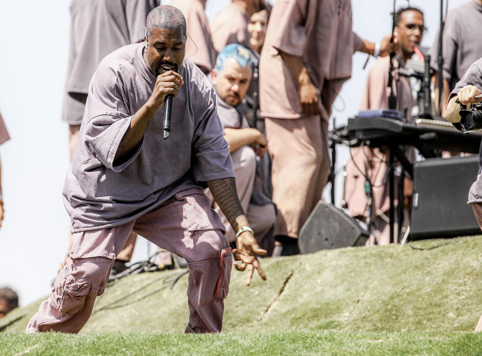 Kanye West performs Sunday Service during the 2019 Coachella – he held another of his gospel concerts in Cody