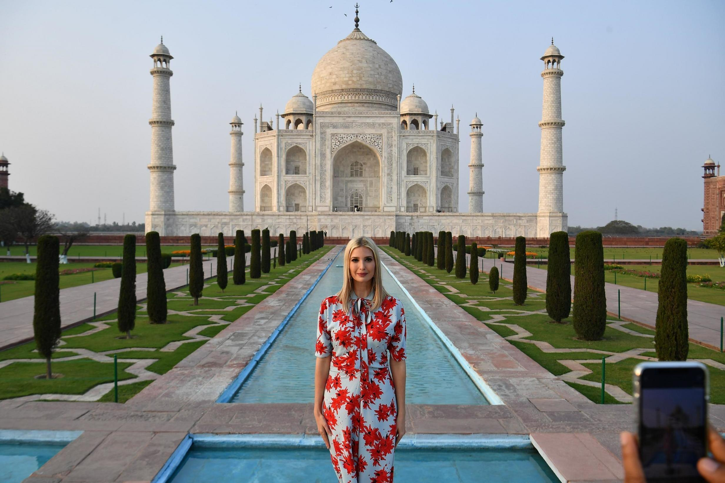 Ivanka Trump accused of Photoshopping Taj Mahal photos