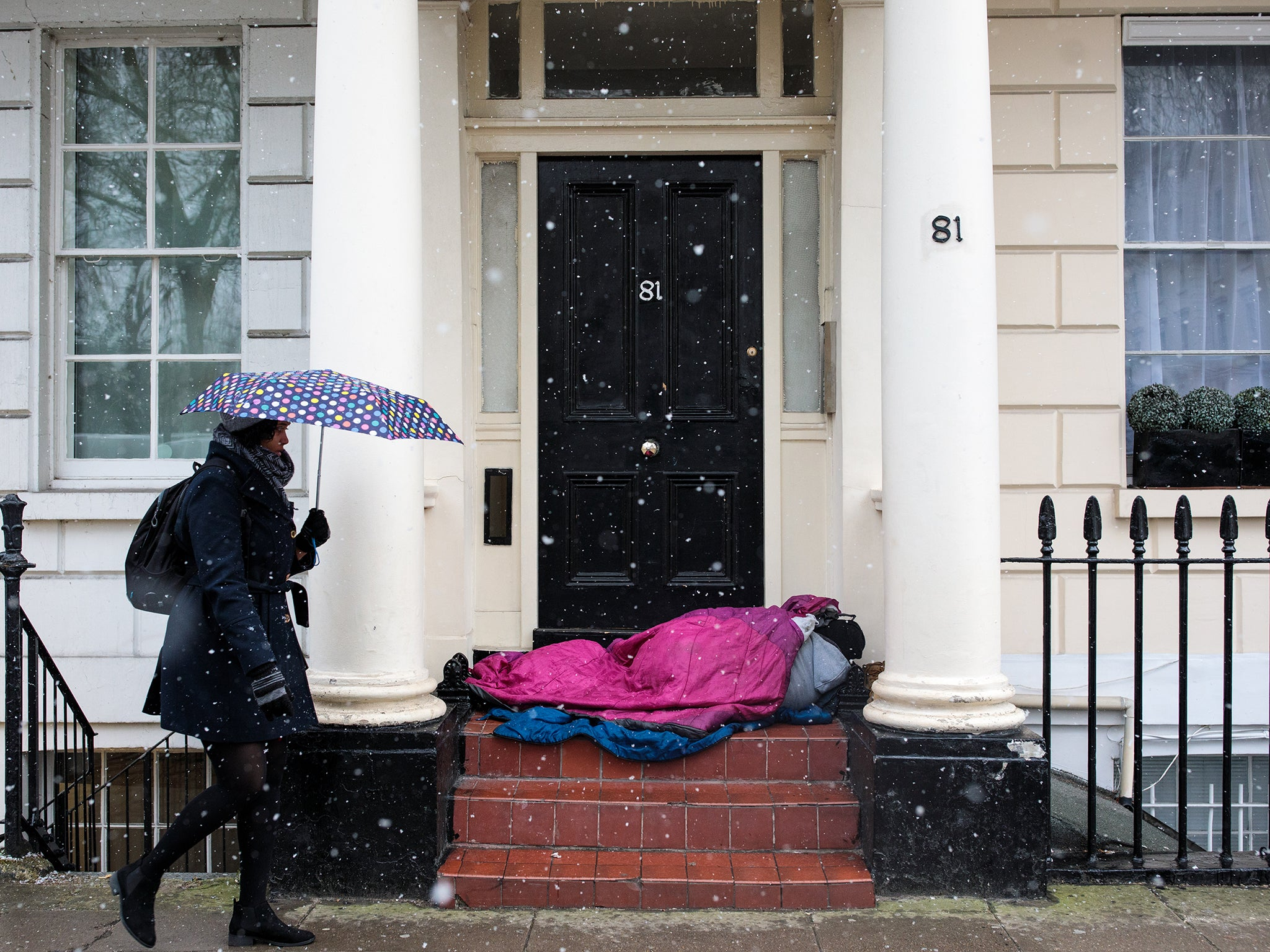 Mark Steel: The only way this government can reduce homelessness is by classifying a park bench as a studio flat