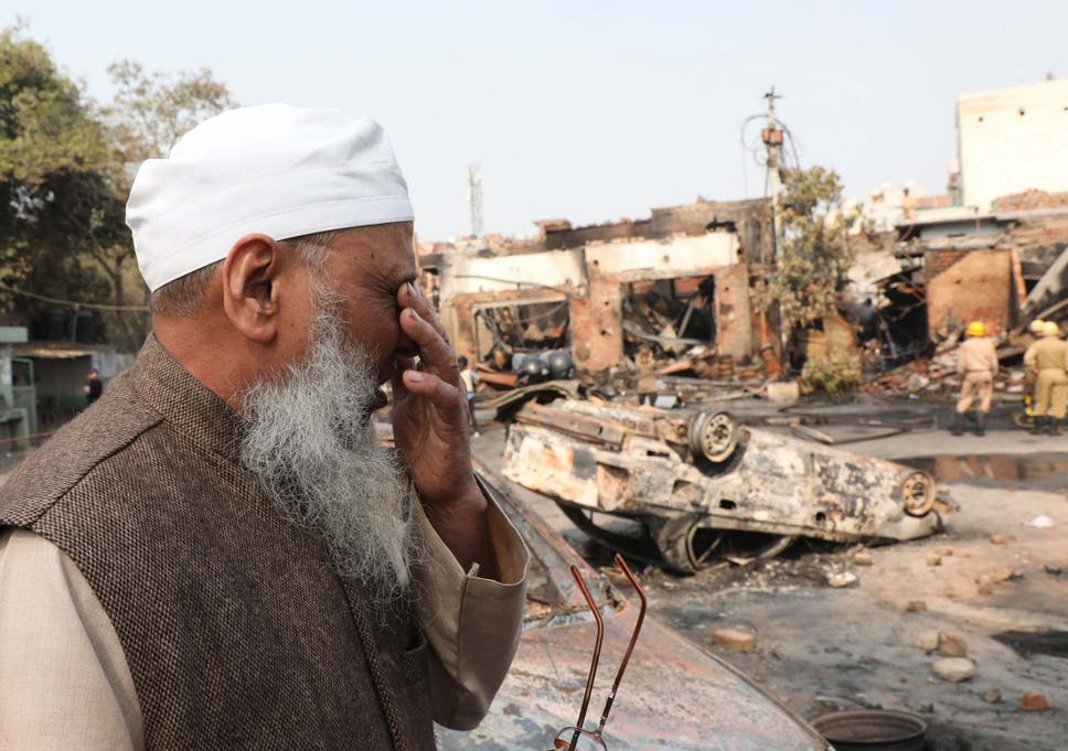 Targeted for being Muslim': Inside the mosque burnt by rioters in ...