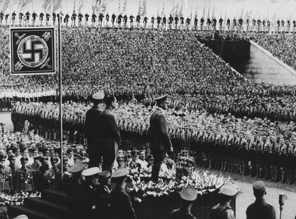Hitler at the Nuremberg rally in 1938: his fascist language was recycled in the Brexit 'debate'