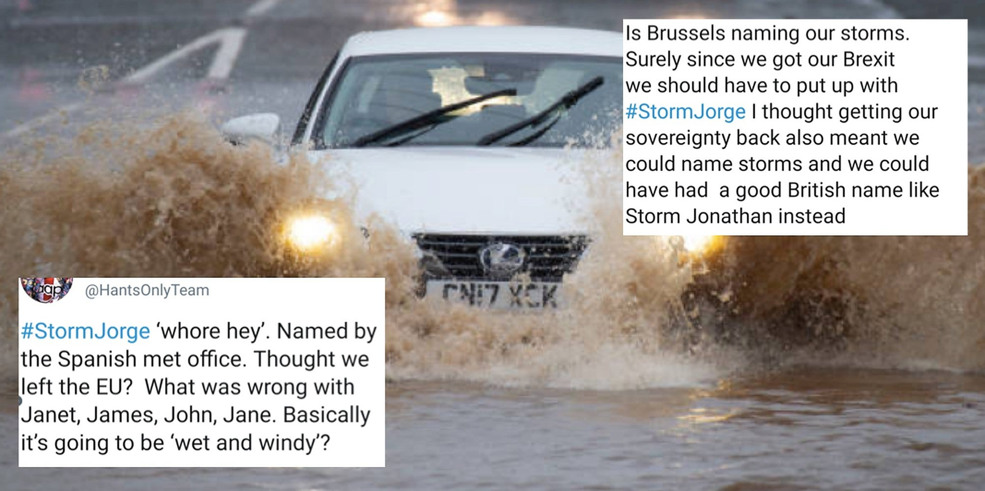 Brexit supporters are furious that Storm Jorge doesn't have a 'proper British' name like 'John' or 'Janet'