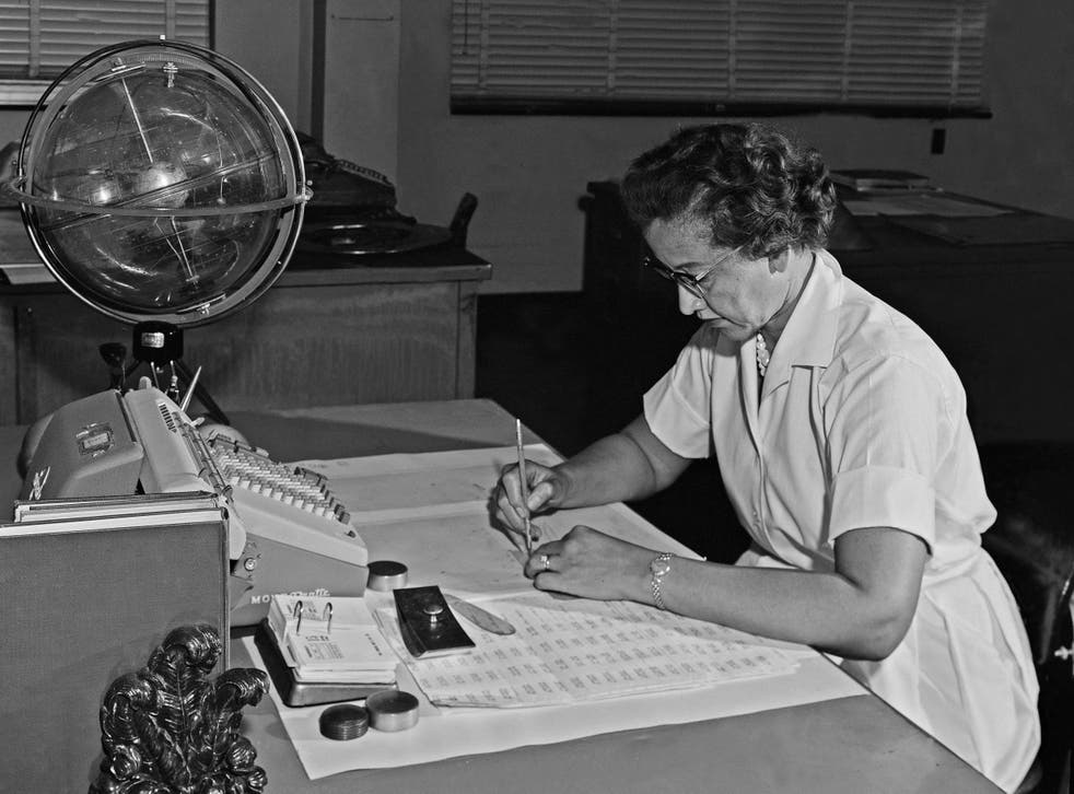 Johnson in 1962: her formulas took US astronauts to the moon