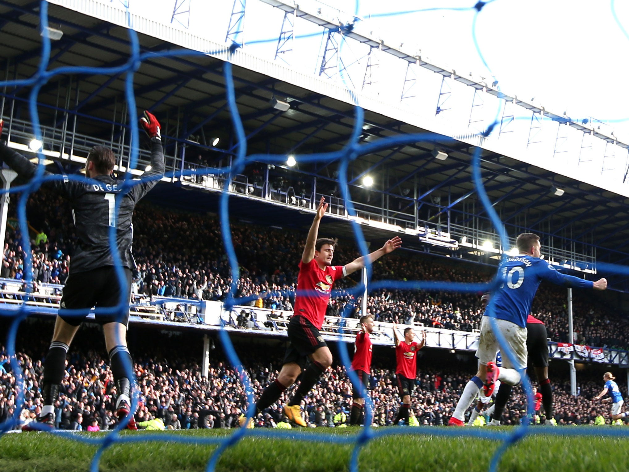 Everton Vs Manchester United Premier League Confirm Why Var Ruled Out Dominic Calvert Lewin Goal The Independent The Independent