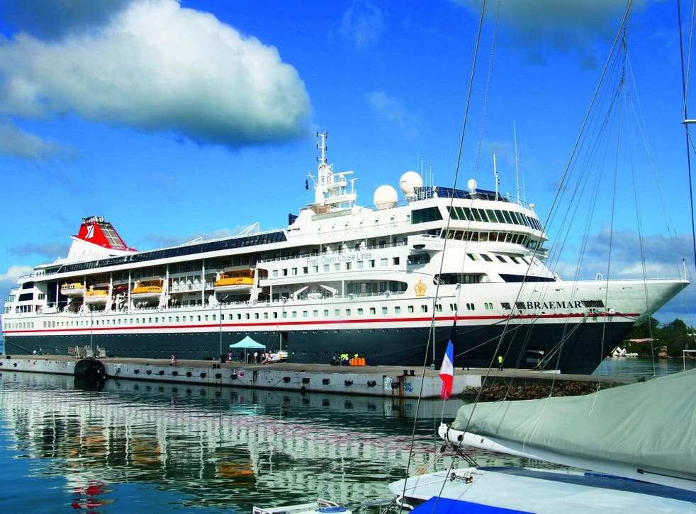 Distant dreams: Braemar docked in St John's, Antigua