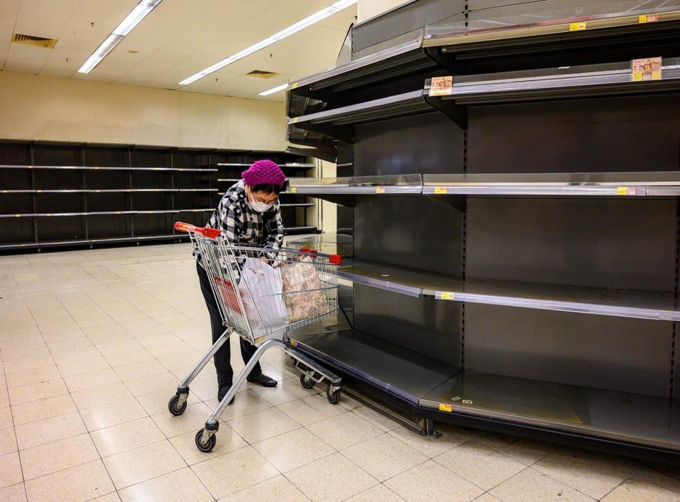 People are stockpiling food and supplies amid coronavirus fears