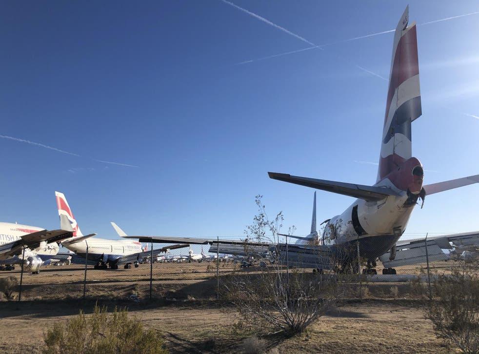 Desert pawn: British Airways 747s ending their days in Victorville, California
