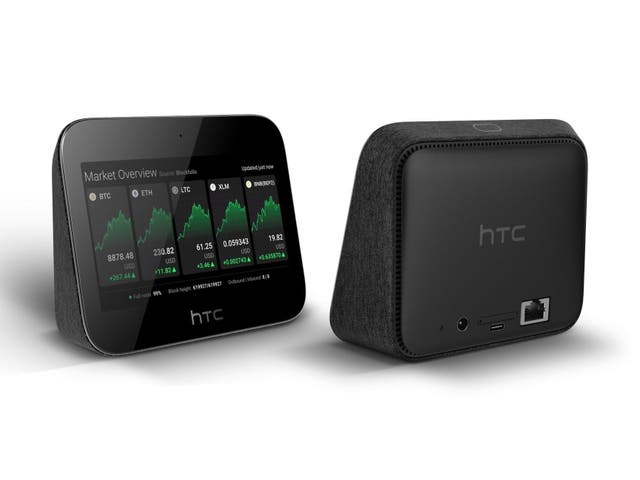 The HTC Exodus 5G Hub allows users to be part of the bitcoin network