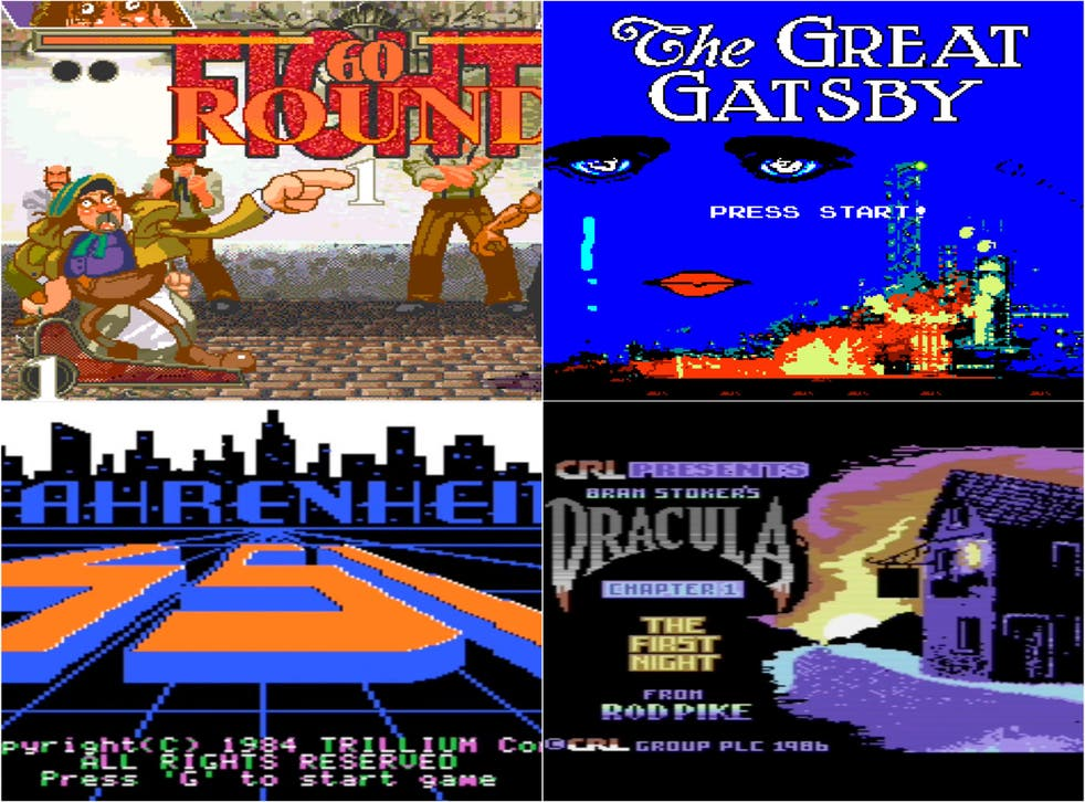 Les Miserables, The Great Gatsby, Dracula and Fahrenheit 451 are just some of the unlikely books adapted into video games