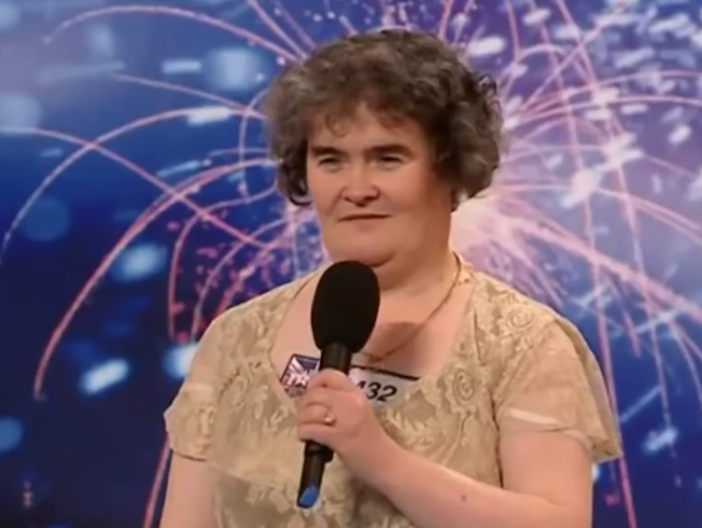 Susan Boyle in her first audition for Britain's Got Talent in 2009