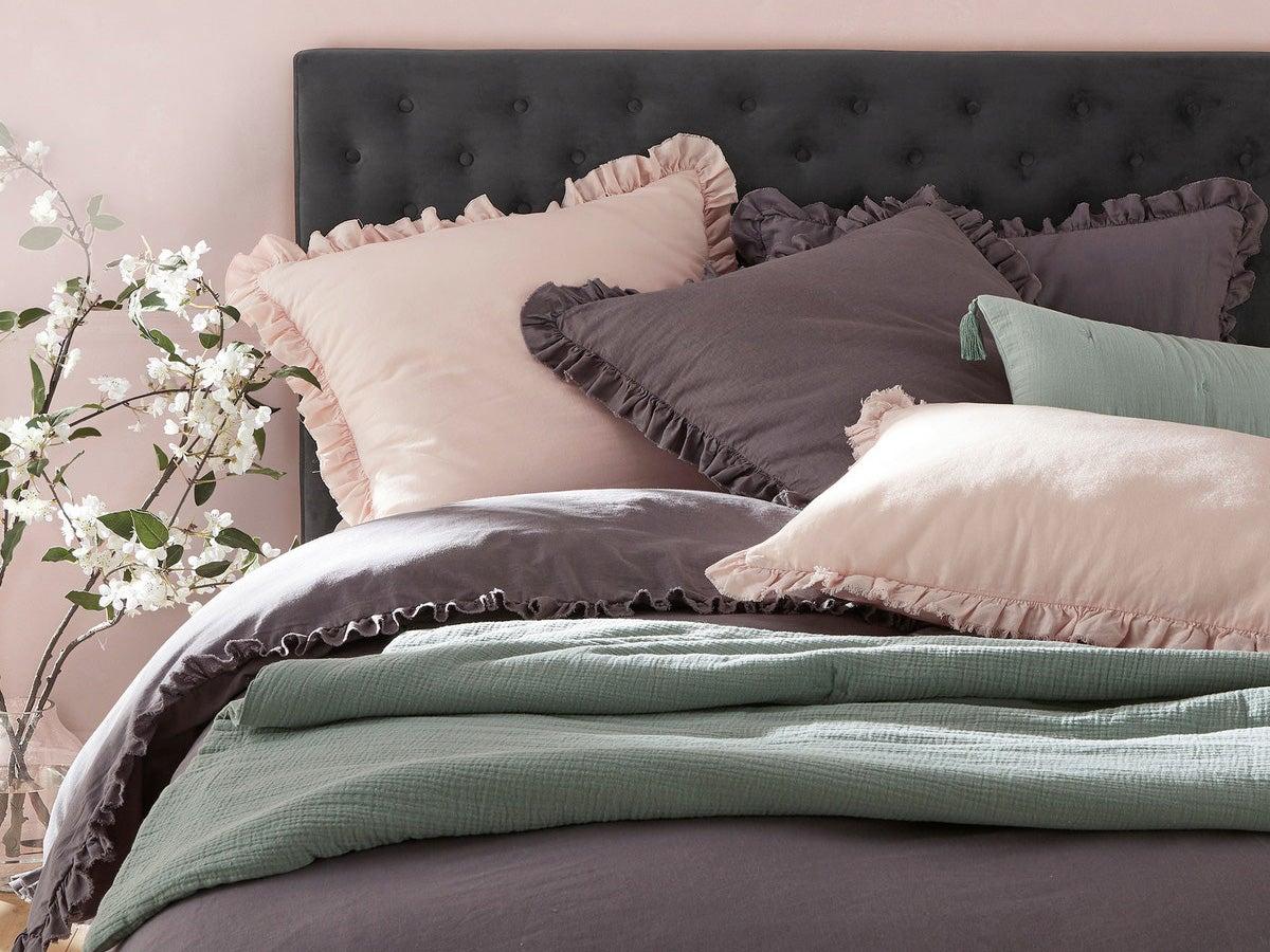 Sale King Size Duvet Cover with Pillowcase Black Colour Easy Care Polycotton