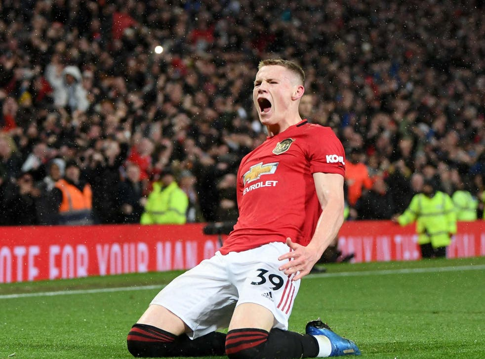 McTominay celebrates scoring a second for United