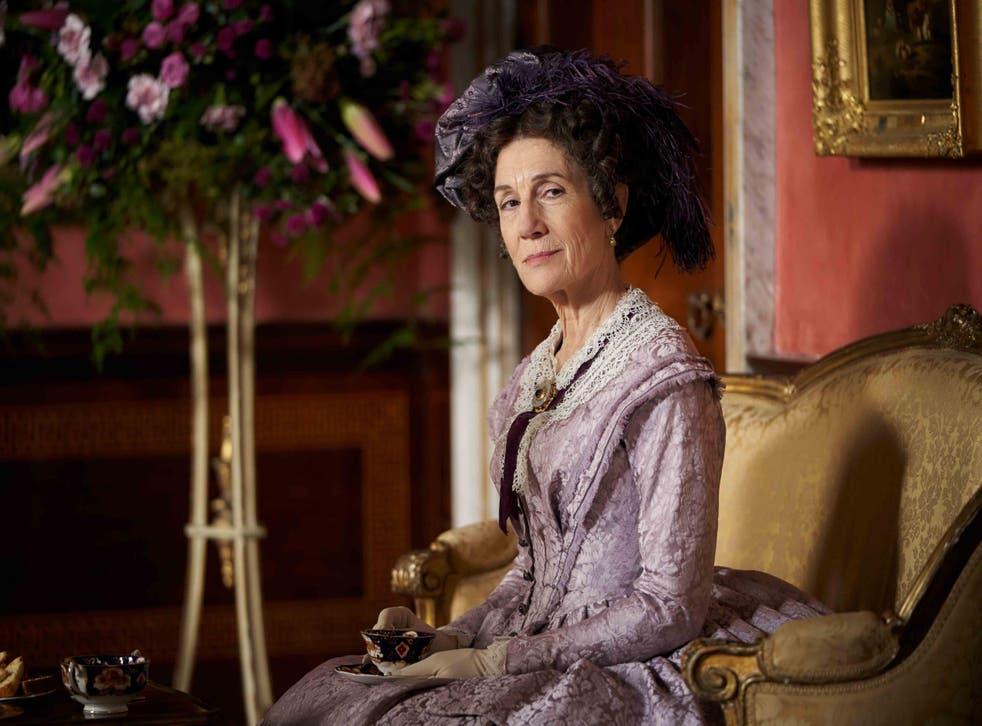 Harriet Walter as The Duchess's sister Lady Brockenhurst in 'Belgravia'