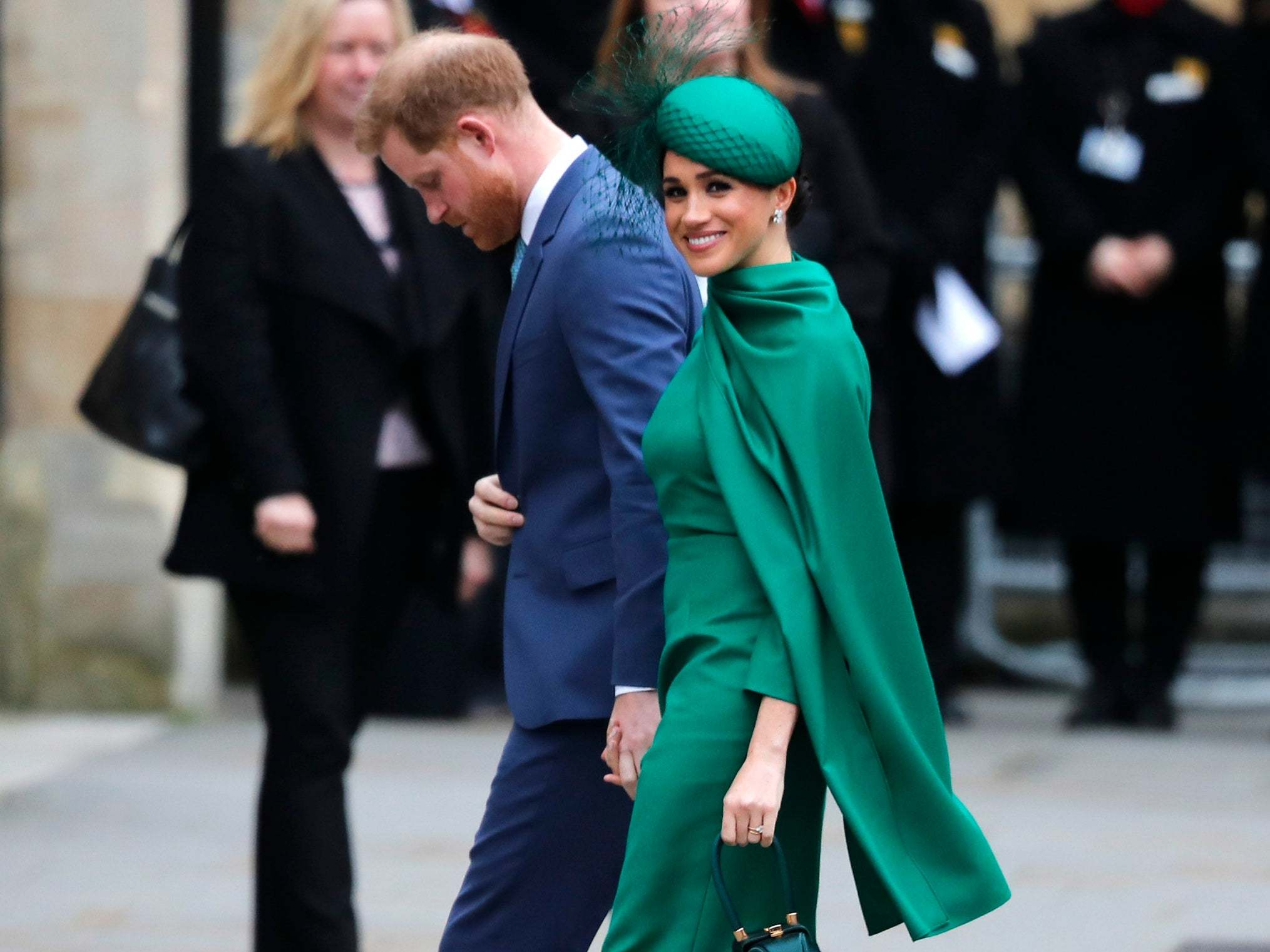 Meghan Markle and Prince Harry: Duchess wears dress by Emilia Wickstead for final royal engagement