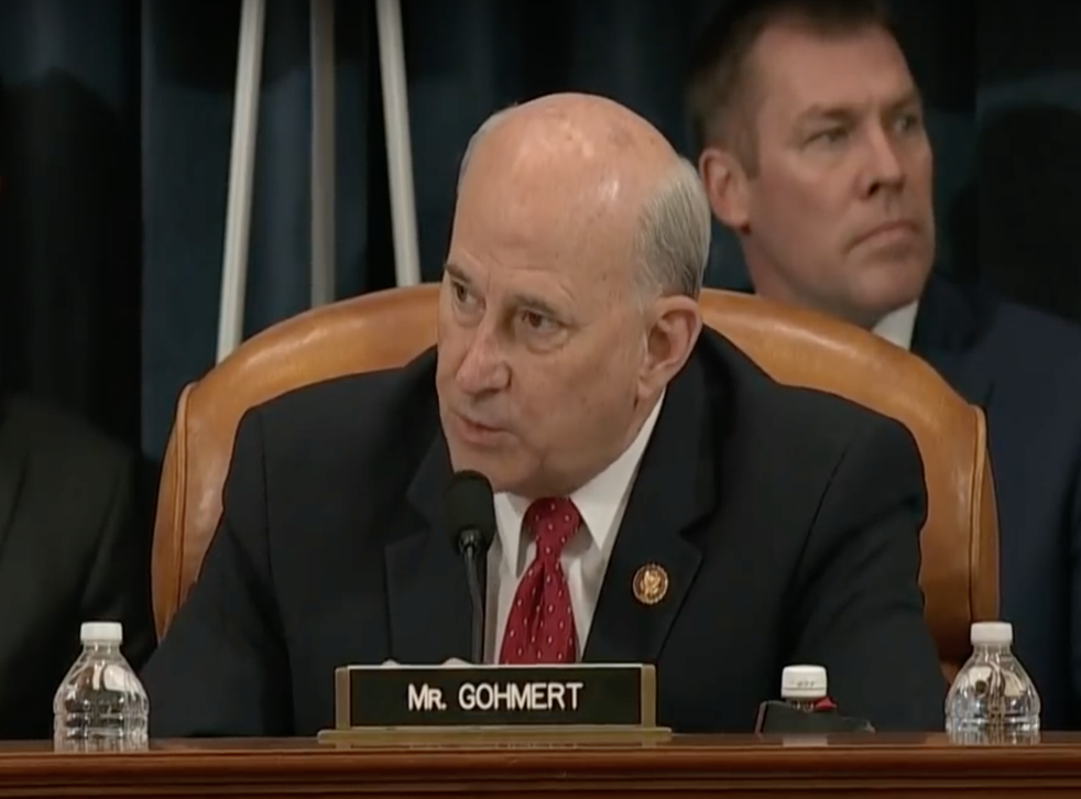 Representative Louie Gohmert (R-TX), pictured here at during the impeachment hearings of President Donald Trump