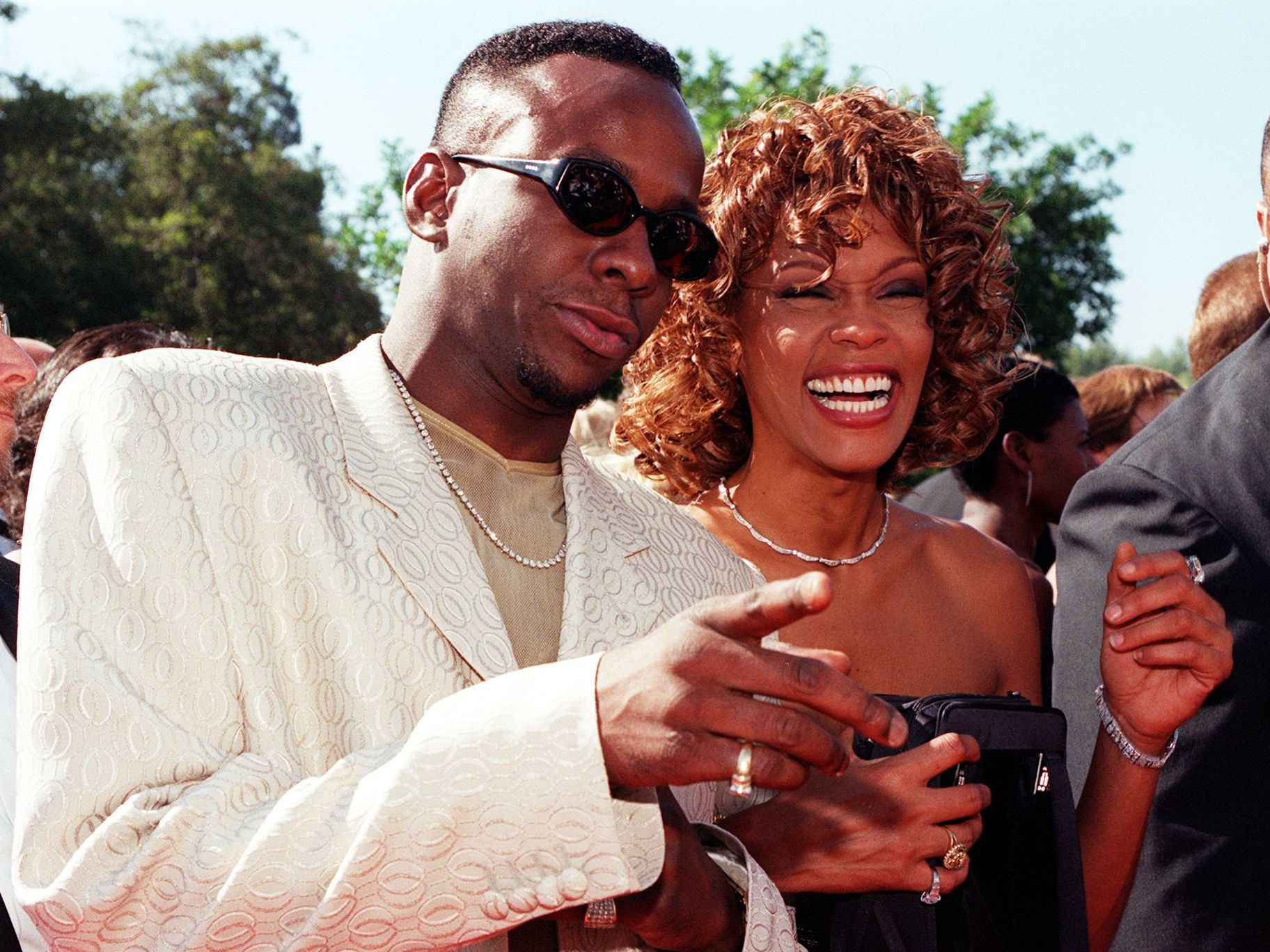 Whitney Houston's 'one-of-a-kind' dress from wedding to Bobby Brown up for auction