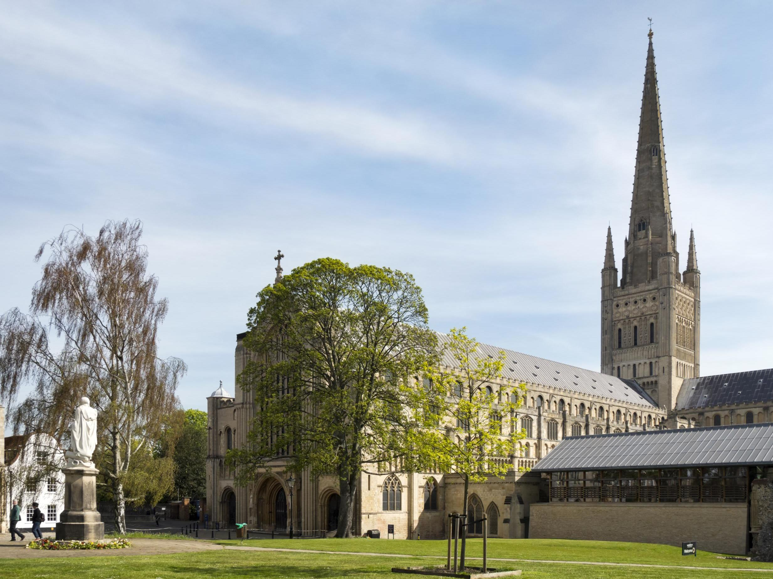 Man arrested after body of woman found in Norwich Cathedral grounds