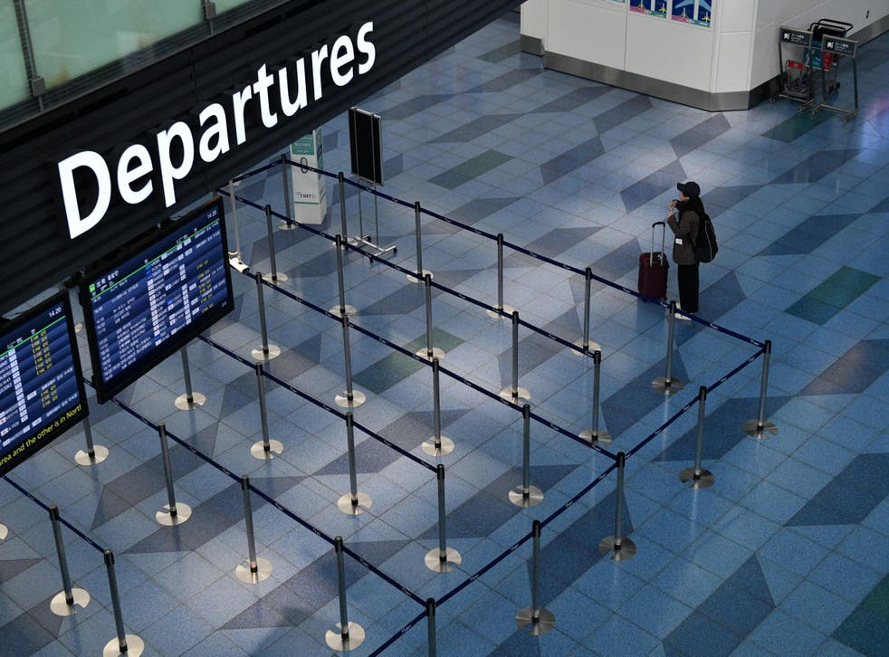 Passengers have stayed away from many airports around the world and flights have been cancelled