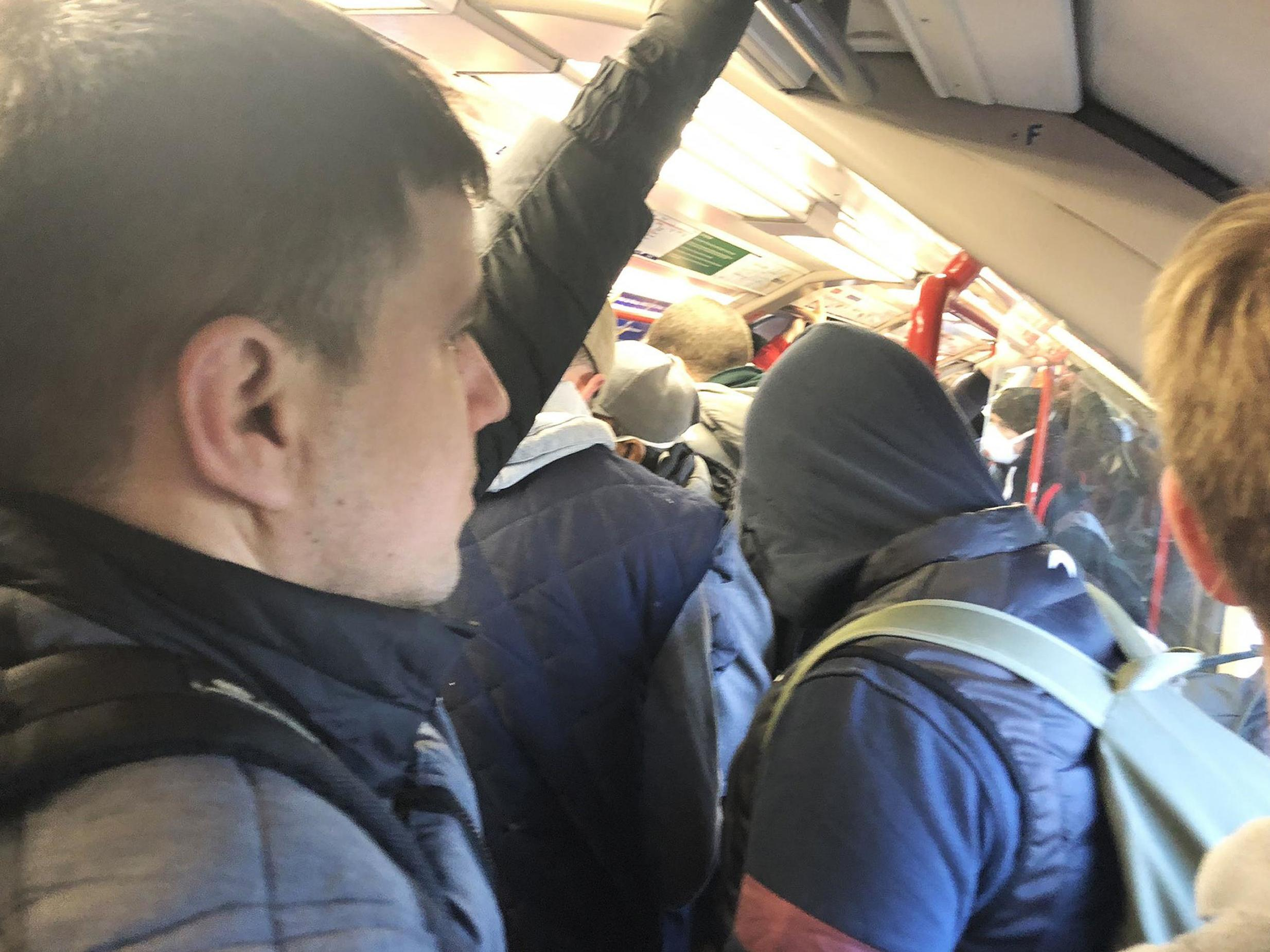 Crowded trains spark fury as people ignore government advice to stay home