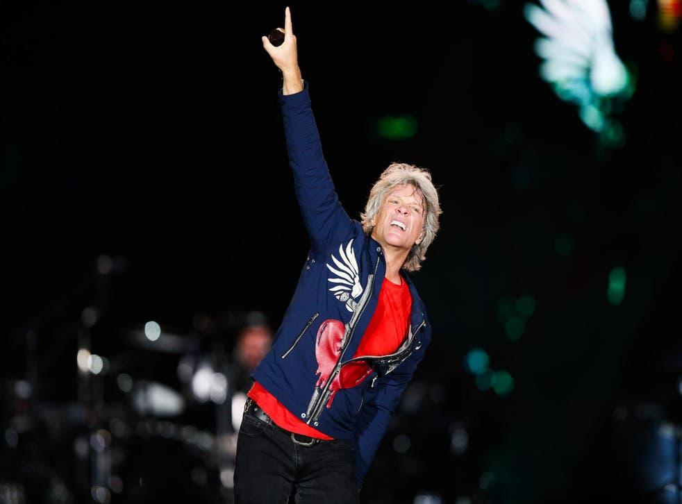 Jon Bon Jovi on 29 September 2019 in Rio de Janeiro, Brazil.