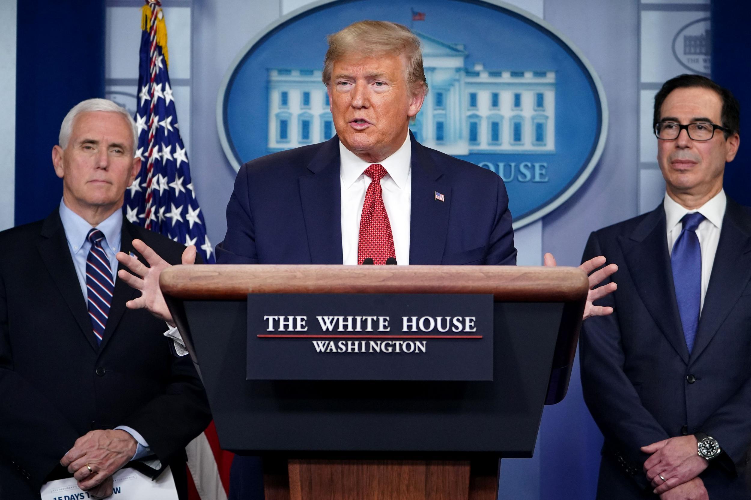 Trump rages against Nato allies during coronavirus briefing