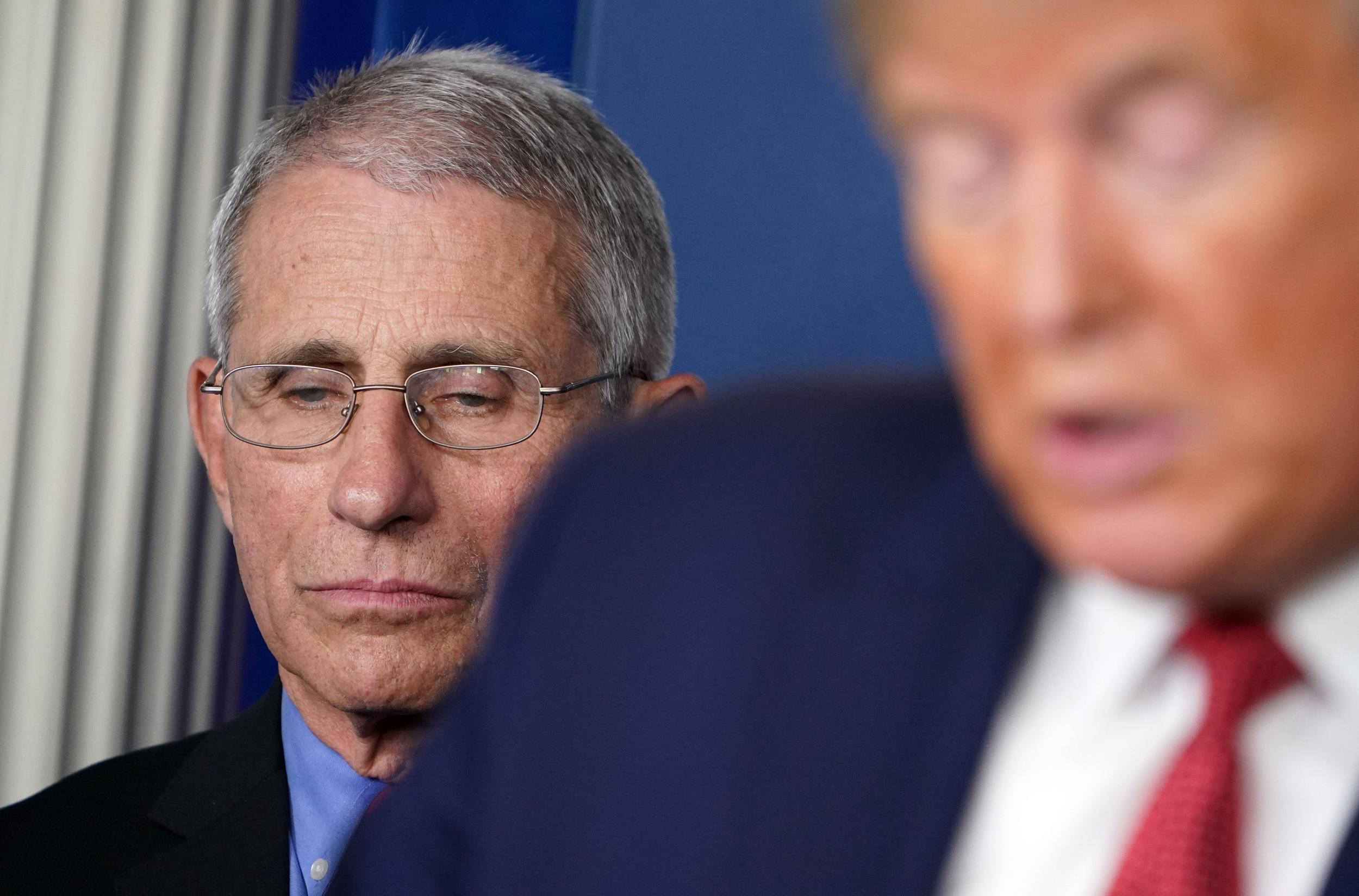 'Be prepared for another cycle': Tense Dr Fauci warns coronavirus will come back as Trump says 'it's time' to restart economy