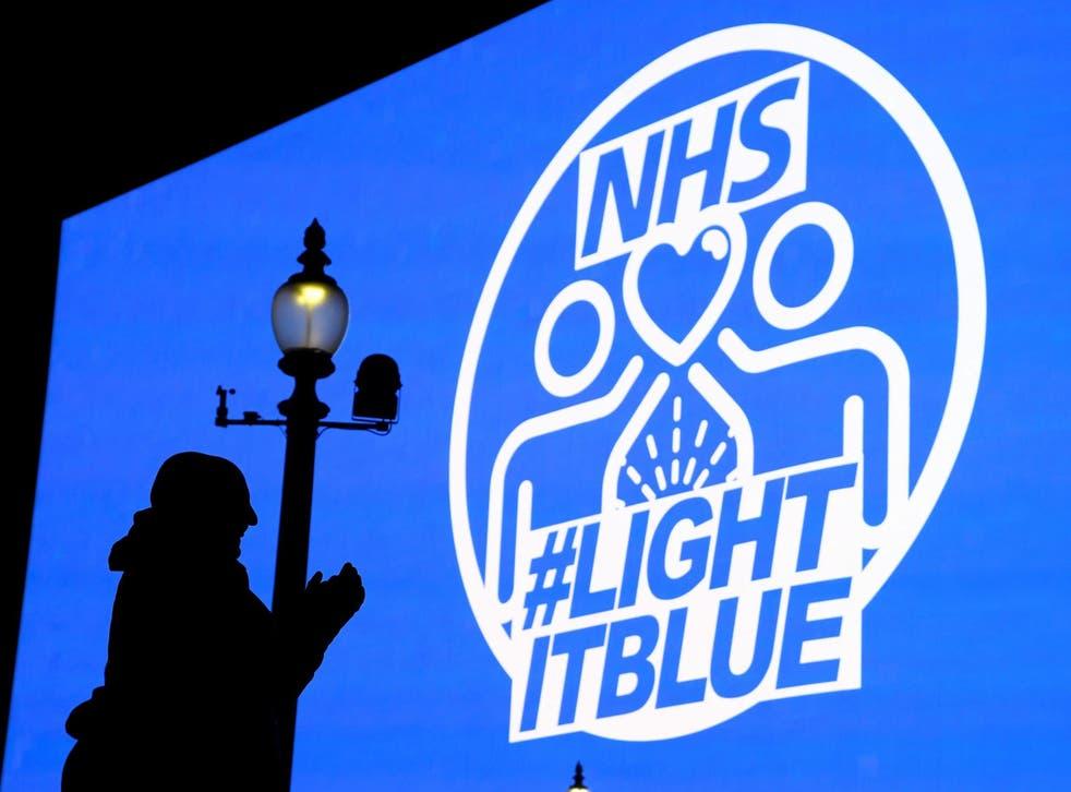 Landmarks in London, Liverpool, Birmingham and Gateshead will be illuminated in blue