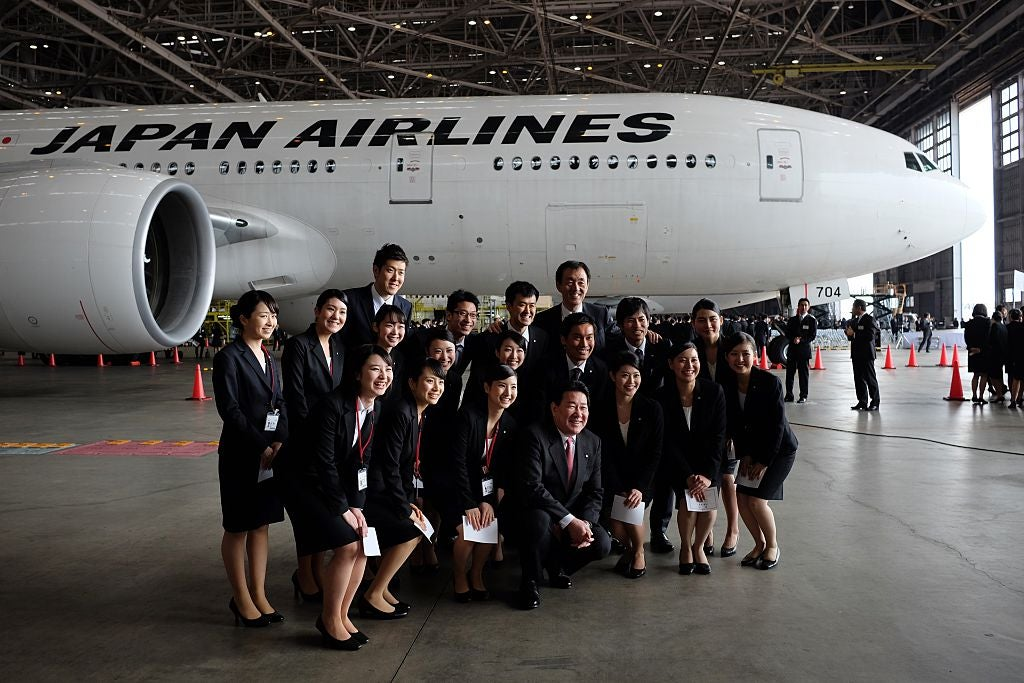 Japanese airline lets female flight attendants ditch high heels and wear trousers for the first time