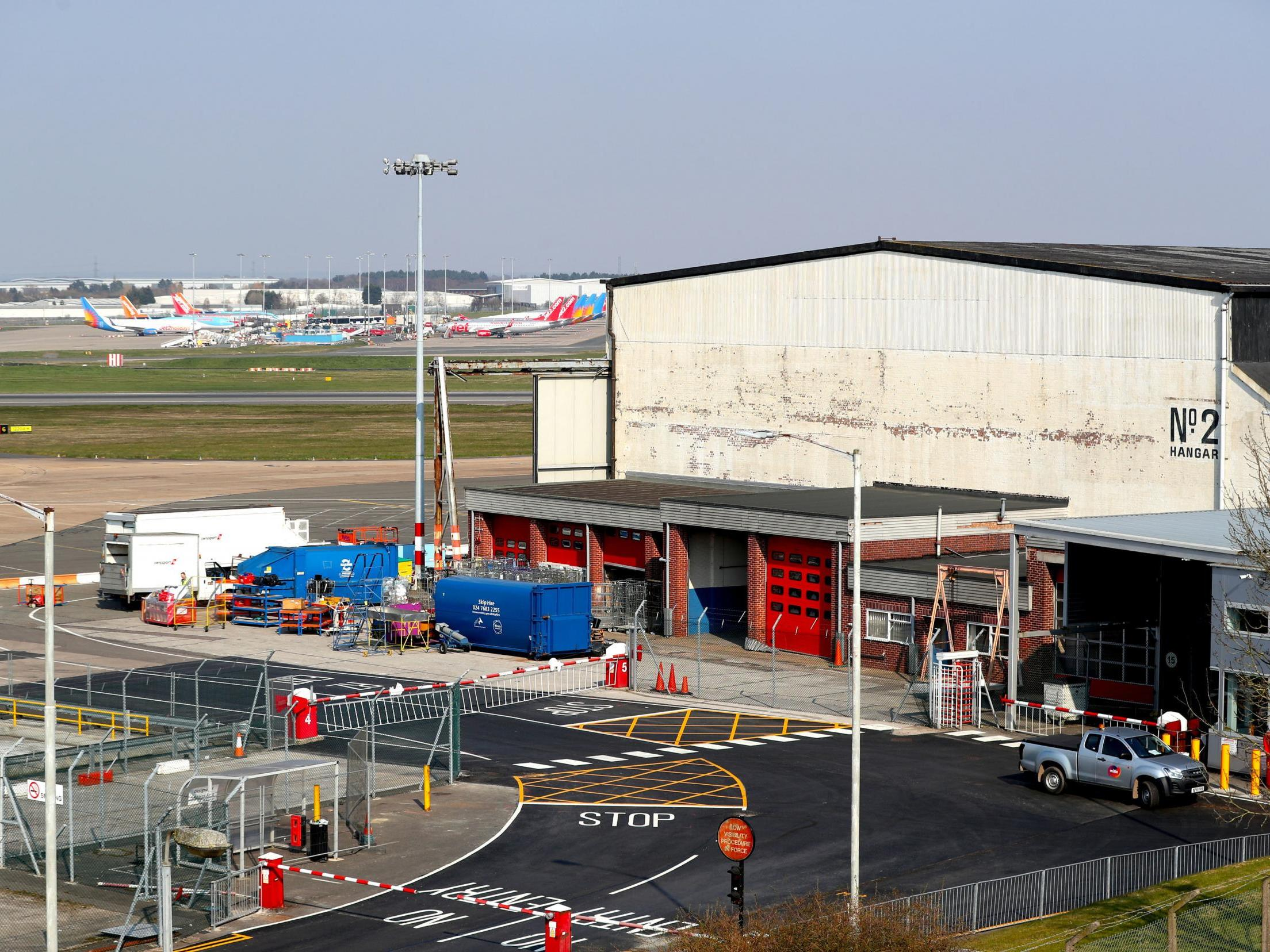 Birmingham Airport being turned into giant mortuary in coronavirus crisis