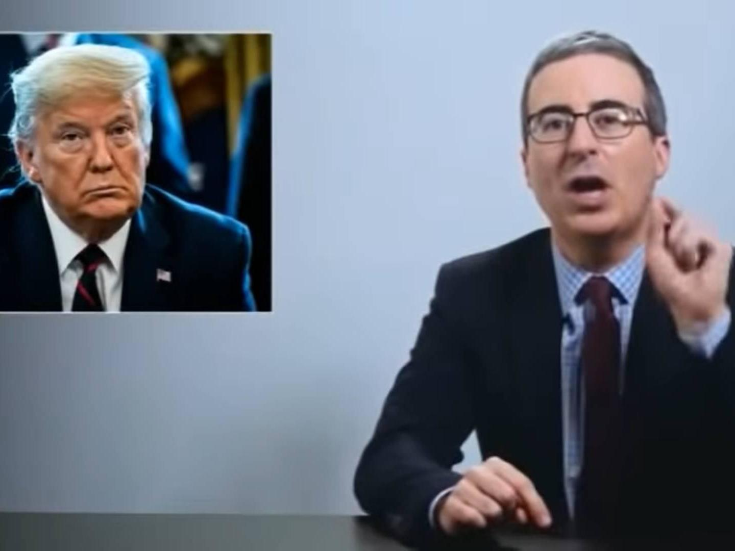 'No one is thinking about you': John Oliver slates Trump over coronavirus crisis