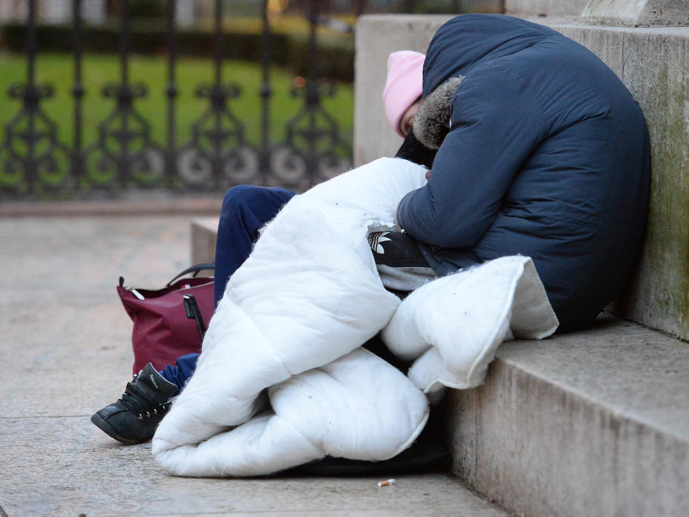 Homeless people 'scared and hungry' on streets despite promise to house them over weekend