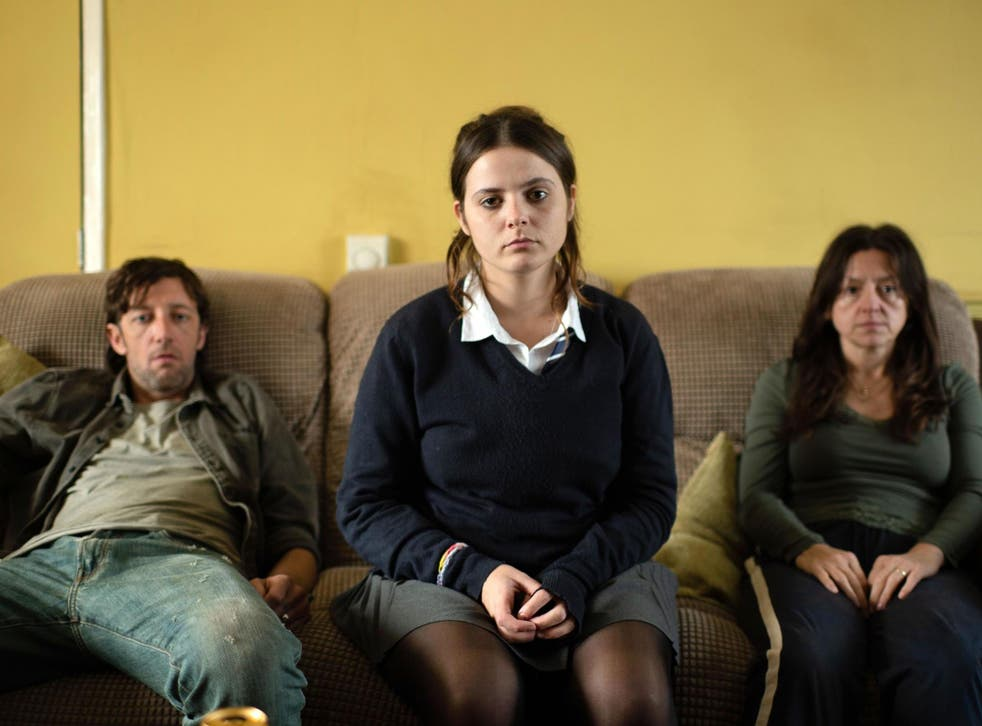 Bethan (Gabrielle Creevy) and her parents in BBC drama 'In My Skin'