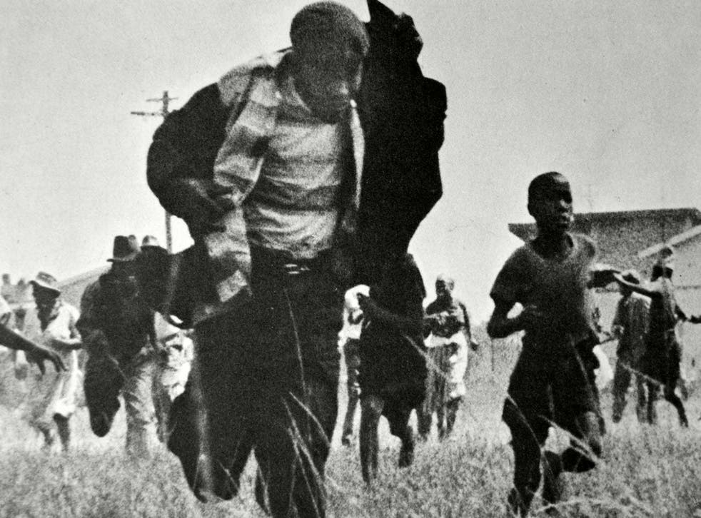 The massacre occurred at the police station in the South African township of Sharpeville