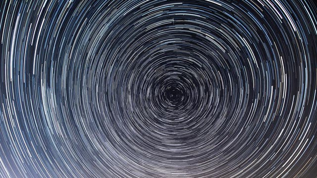 With flights grounded around the world due to the coronavirus outbreak, photographers have been able to capture stunning images of star trails - the streaks of light left by stars as the earth rotates - without the usual interruption caused by air traffic.