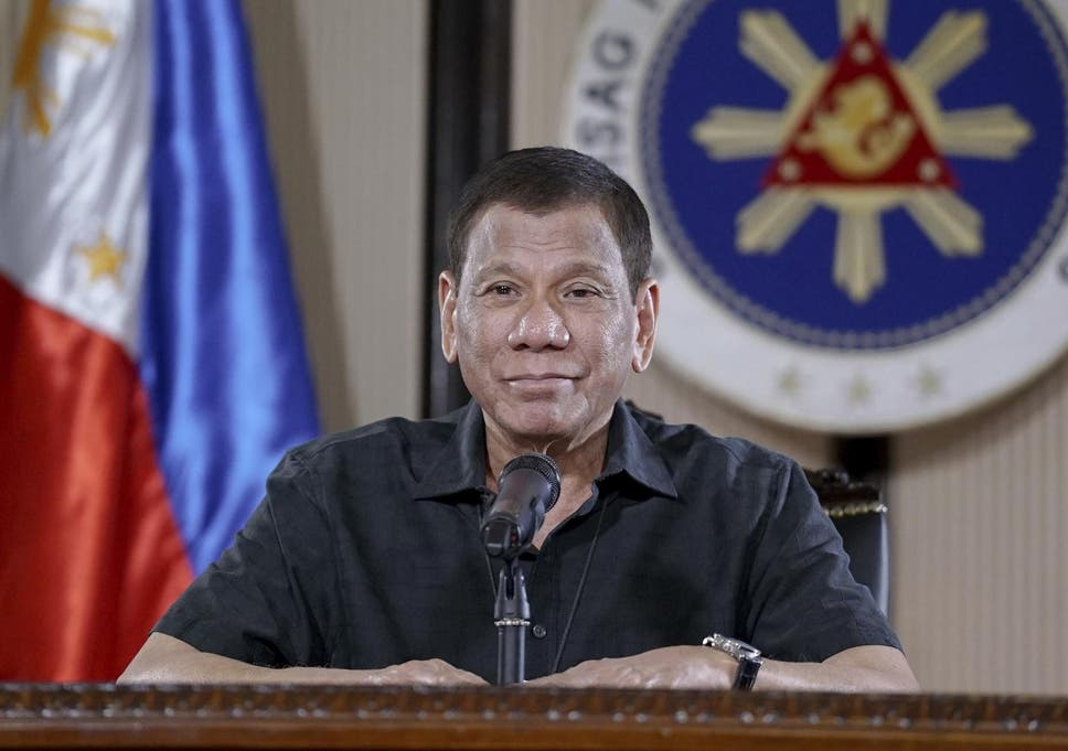Rodrigo Duterte's office typically calls his remarks hyperbole to underline his point
