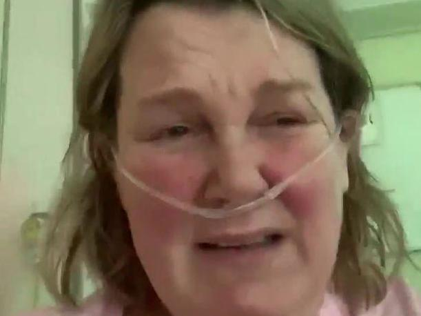 Coronavirus: Woman issues warning from NHS hospital bed after contracting infection
