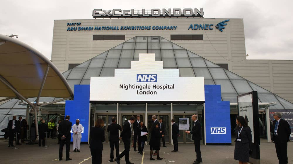 Coronavirus: First patients admitted to London's NHS Nightingale ...