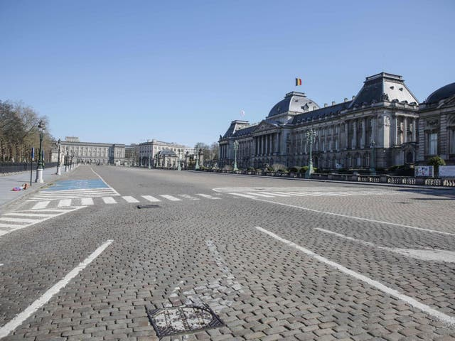 The halt in activity in Brussels has been reflected in a drop in seismic waves
