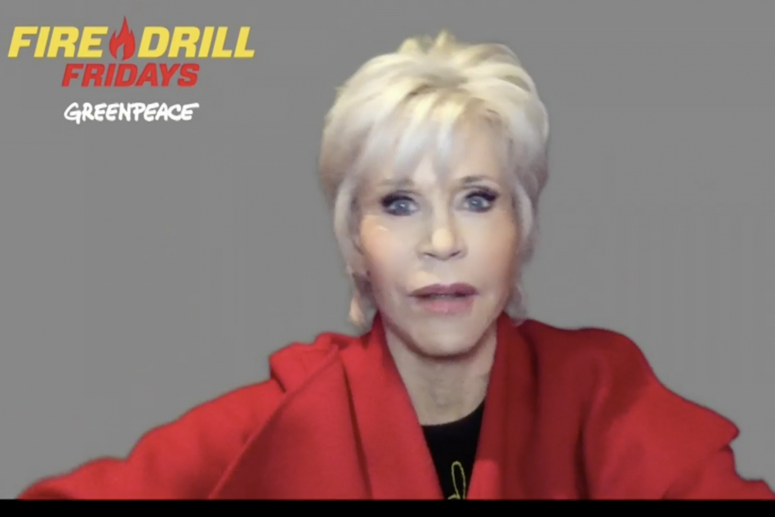 Jane Fonda breaks the internet: Fire Drill Friday's first virtual protest crashes after thousands join online