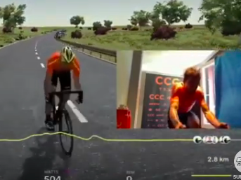 Greg van Avermaet wins Virtual Tour of Flanders on home trainer