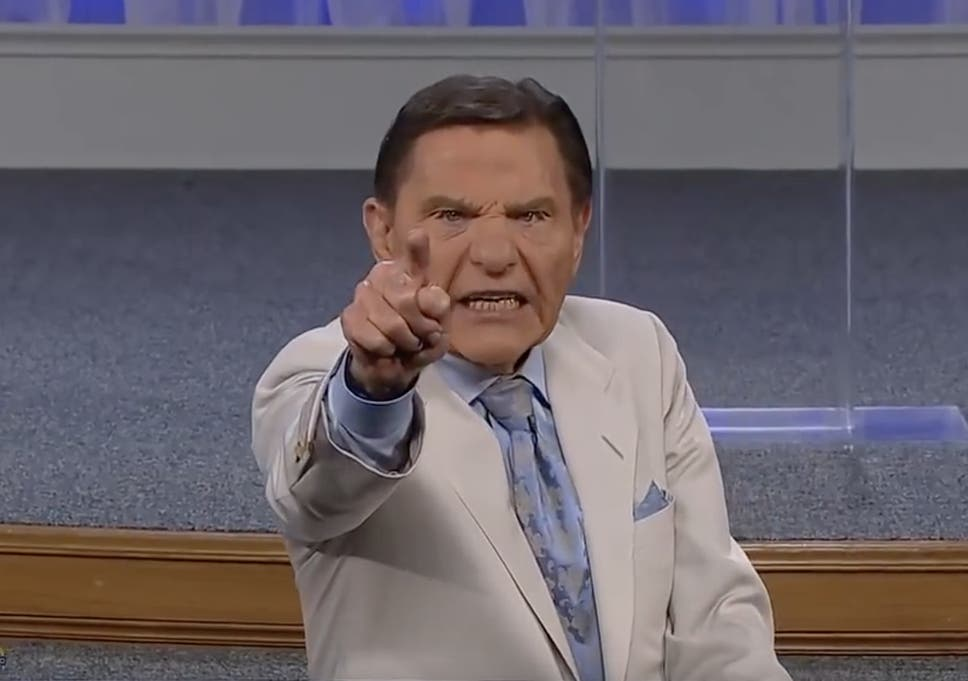 Pastor Kenneth Copeland prayed to 'blow the wind of God' at coronavirus during the televangelist's sermon.