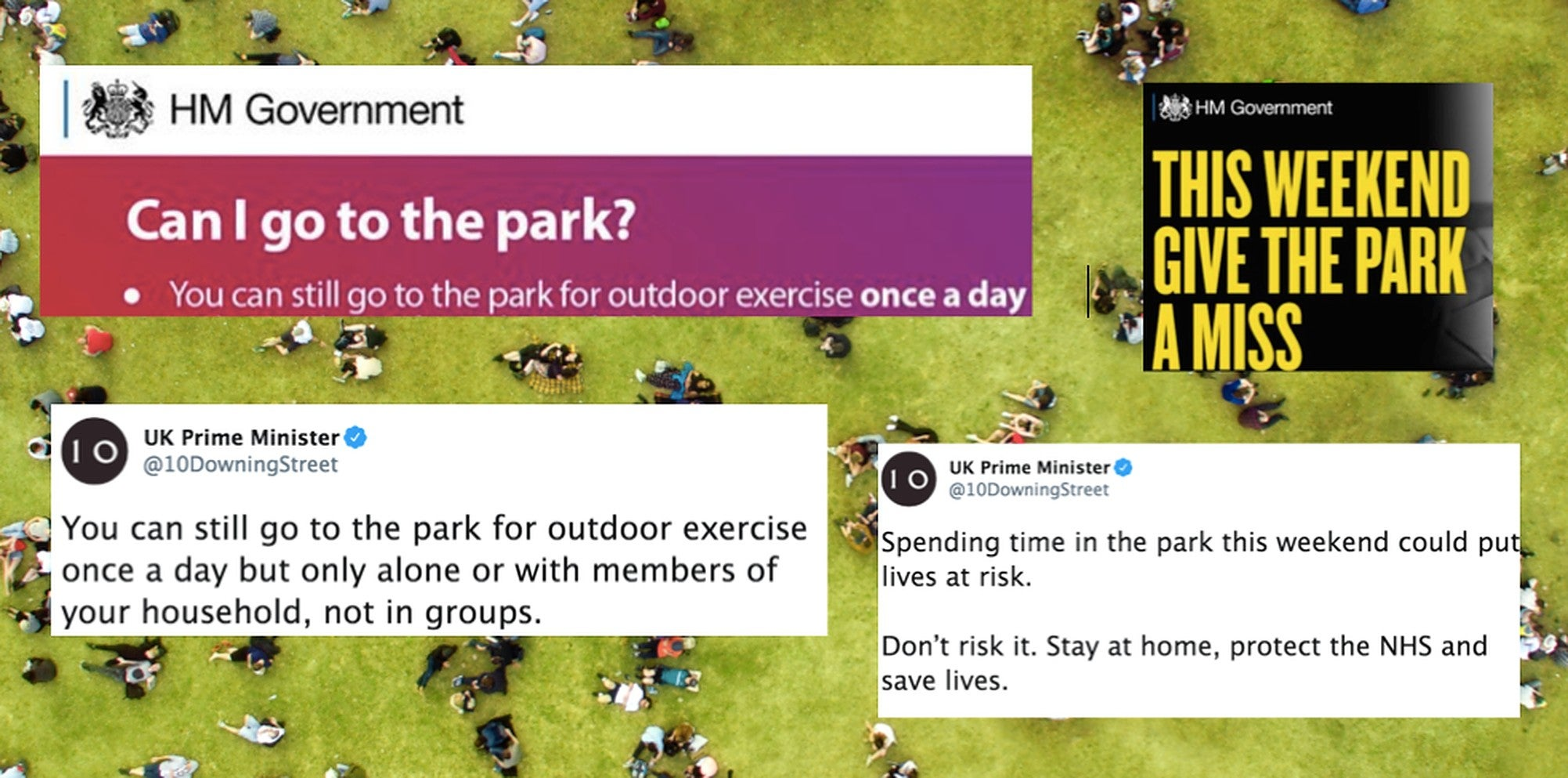 Don't blame people for sunbathing in parks, blame the government for these 'conflicting' messages