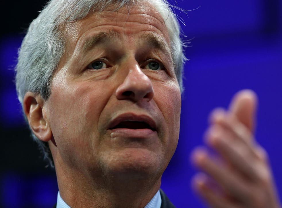 Jamie Dimon speaks during the Fortune Global Forum